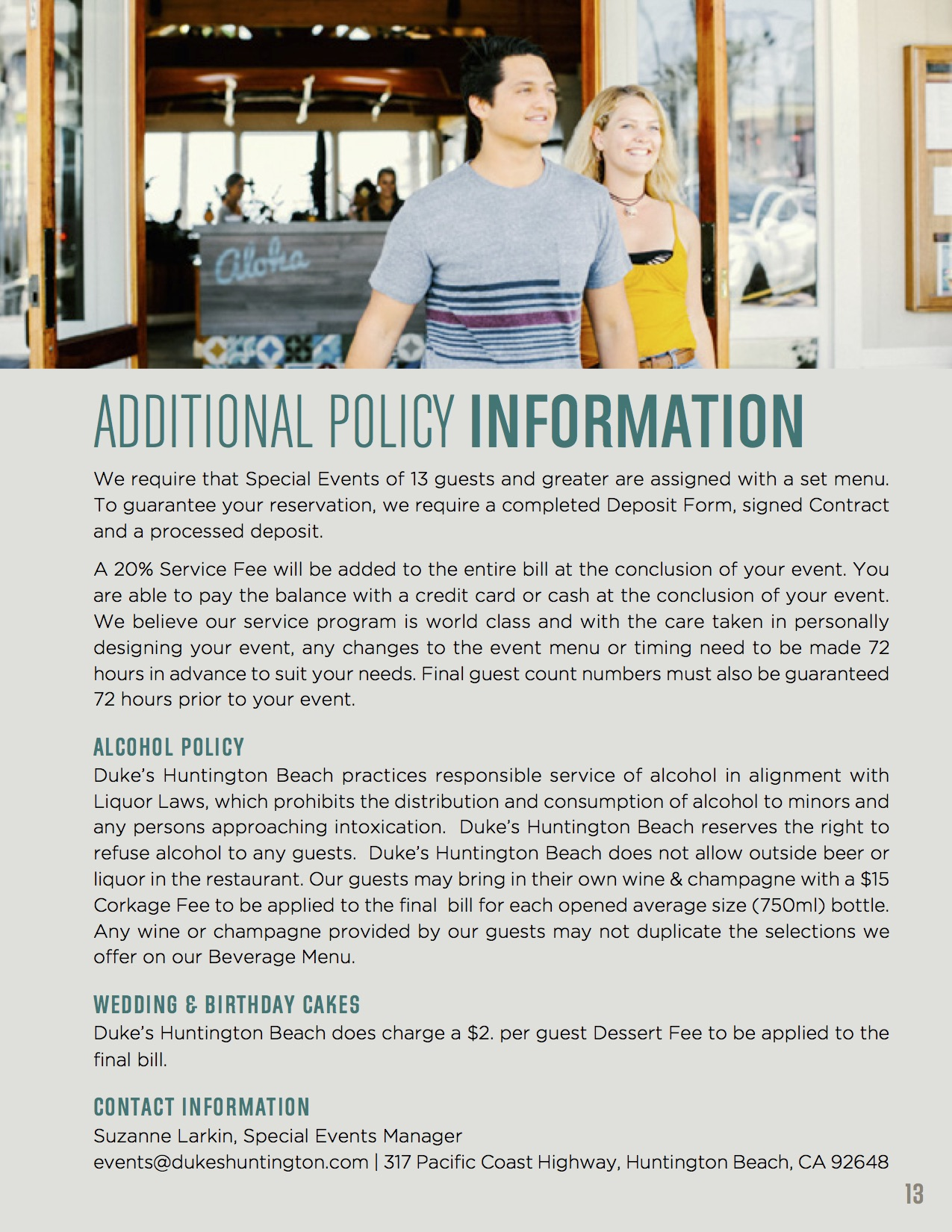 Additional Policy Information