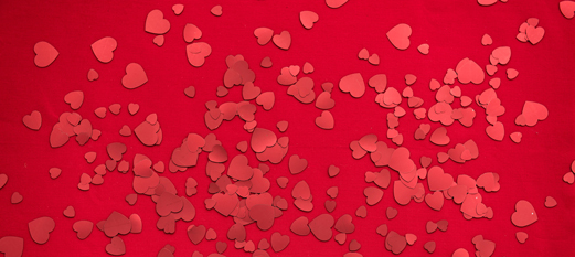Scattered Red hearts